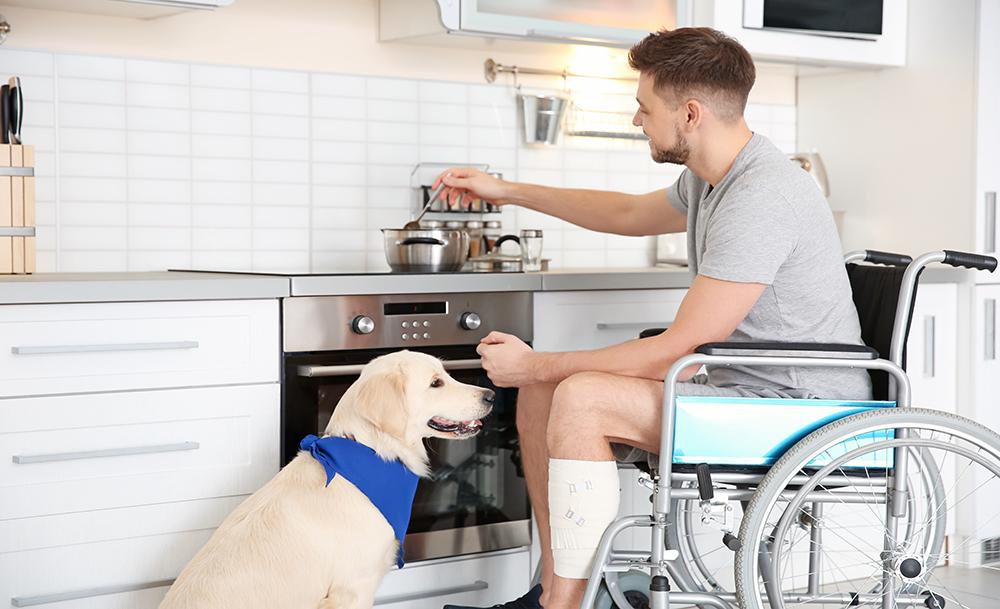 Wheelchair access in kitchen